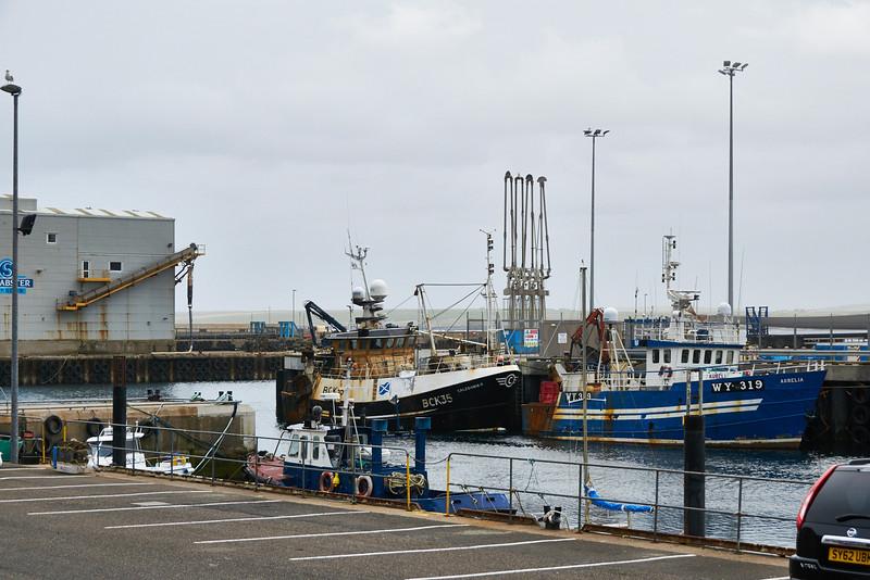 Scrabster, the port for Thurso.