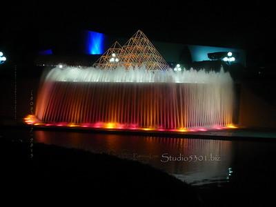 Epcot Fountain night