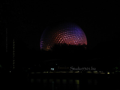 Epcto Globe at  night