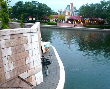 Epcot river and art site