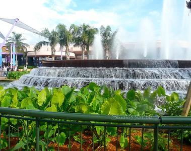 Epcot fountain with Taro