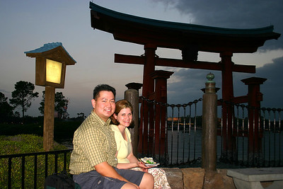 Outside the Japanese pavillion in EPCOT, Disney World.