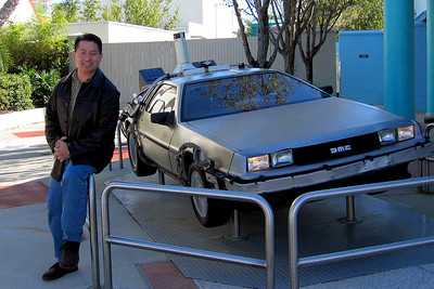 Back to the Future deLorean at Universal Studios.
