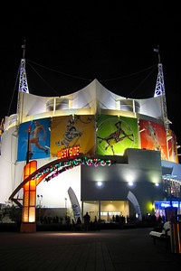 "The ""La Nouba"" tent - the home of Cirque du Soleil in Downtown Disney."