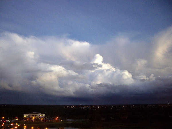 """<font size=""""3"""">Dramatic clouds remained after the storm passed.</font>"""