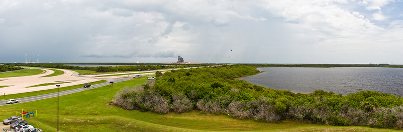 Launch Pad 39A (left) and Launch Pad 39B (center). Launch Pad 39A was used by STS 125 (Atlantis) for the last human service on Hubble.