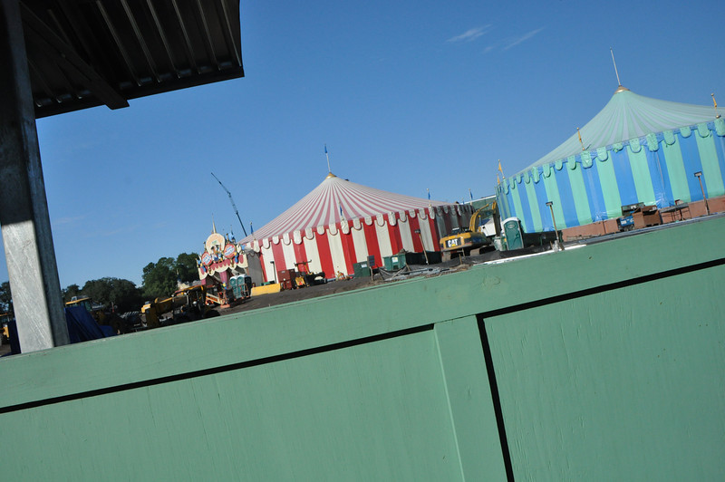 Toontown demolished.  The backside of Fantasyland is being remodeled.  Into Circusland?