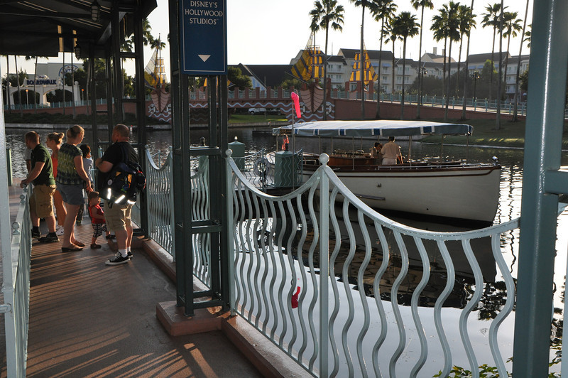 The water taxis to Disney's Hollywood Studios tour.