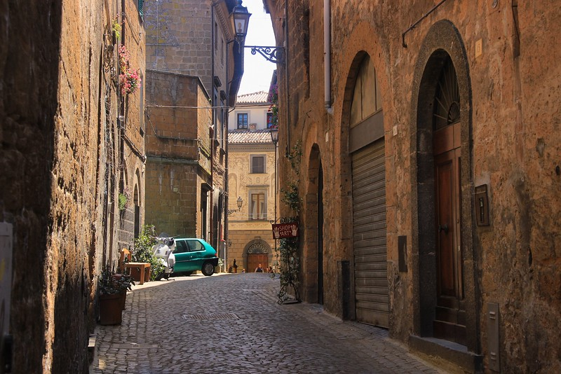 Architectural character like this takes centuries to produce. Many streets in Orvieto have it. The city was populated well before the birth of Christ.