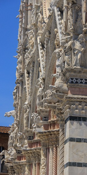 All of Siena Cathedral's many statues are supremely detailed.