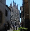 The beautiful Cathedral in Orvieto rises 7 stories above the town.