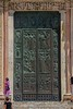 Huge bronze main doors of Siena Cathedral.