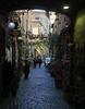 A backstreet shopping area in Orvieto.