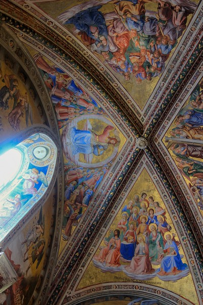 Every surface was utilized by painter Luca Signorelli who worked night and day on the frescoes of The Madonna di San Brizio Chapel.