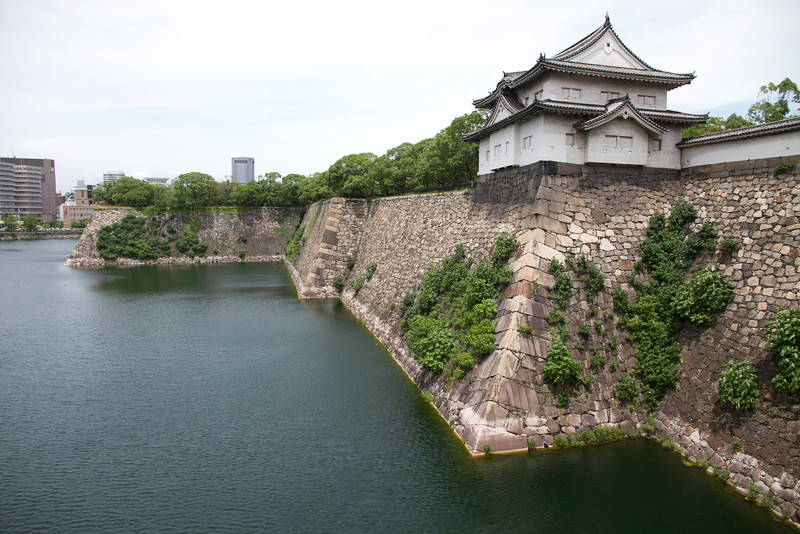 The walls of the moat were pretty impressive, and was mostly original.