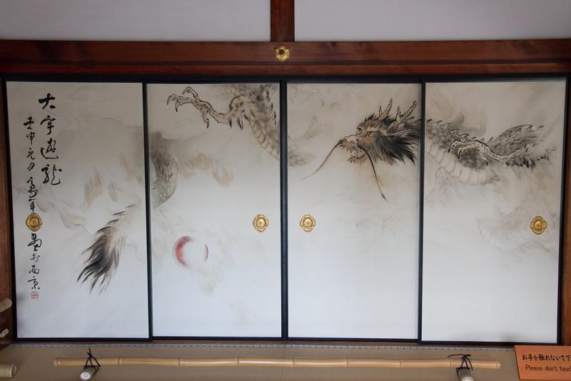Beautifully painted doors at Kodaji Temple