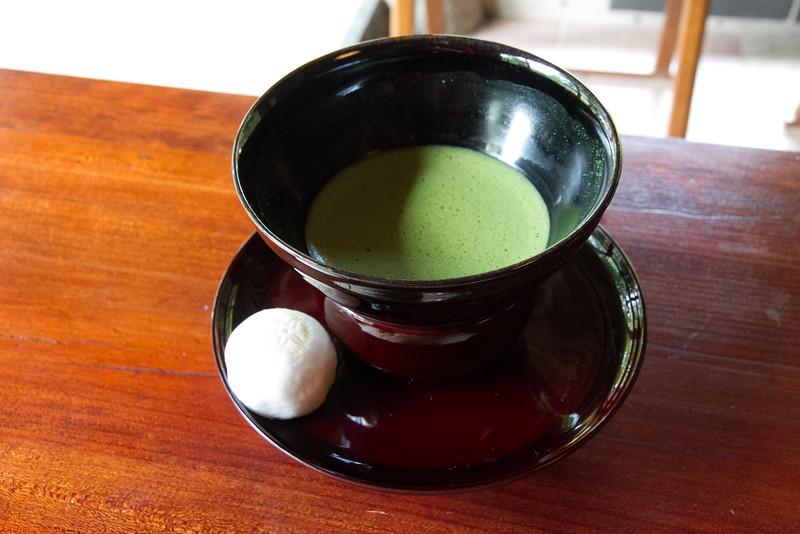 Sampling Kyoto's famous matcha!