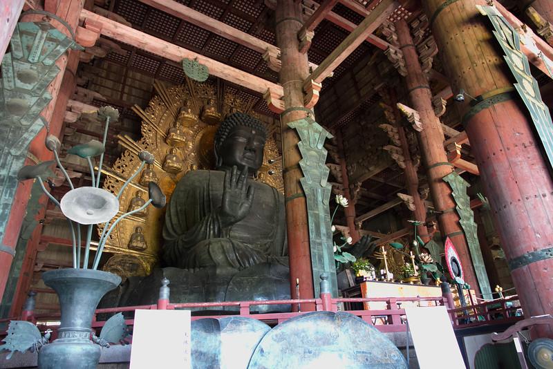 The buddha of Todaiji temple