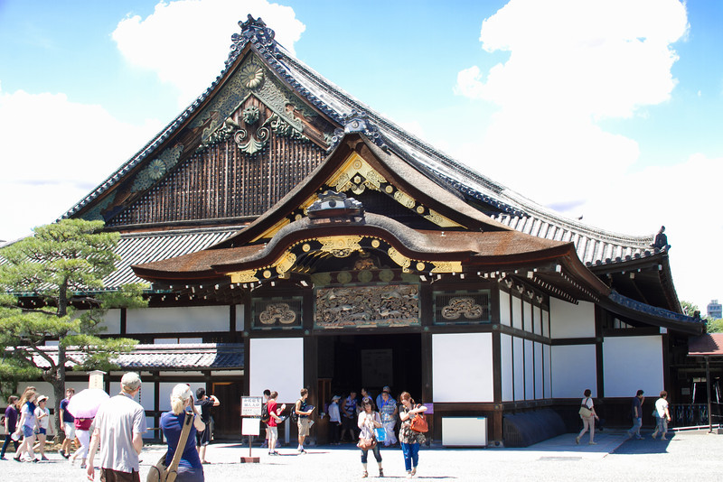 Nijo Castle.  Unfortunately no photos were allowed of the gorgeous interior.  Fun fact: the castle floorboards are purposefully squeaky to reveal any intruders at night.