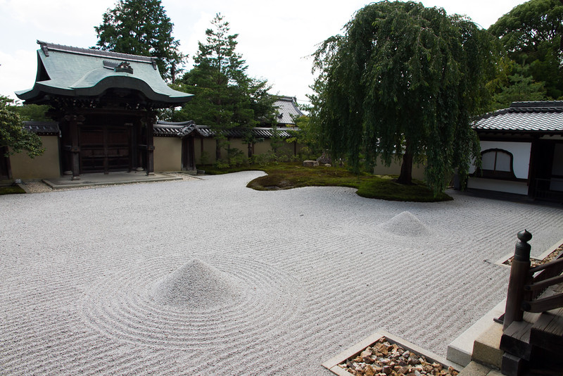 A zen sand garden at Kodaji temple.