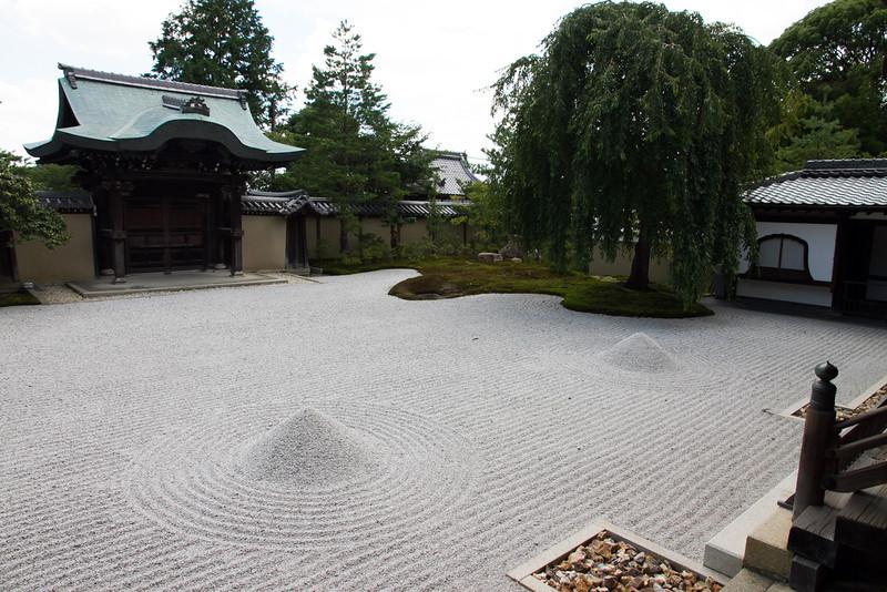 A zen sand garden at Kodaji temple.