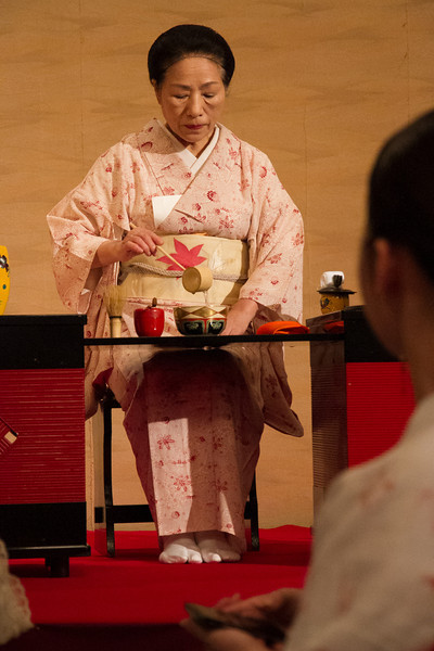 The Gion Corner theater had a demonstration of several classical Japanese arts.