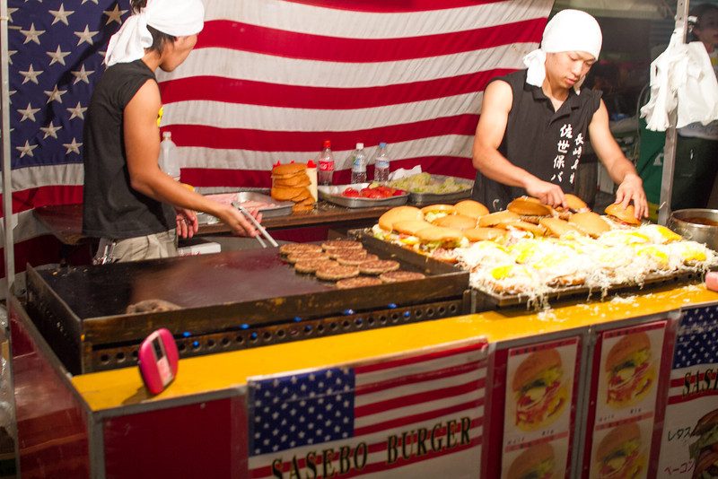 """Sasebo Burger"" was being ultra-American"