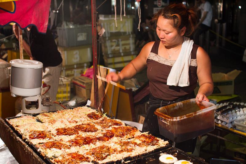 Mmm, okonomiyaki!