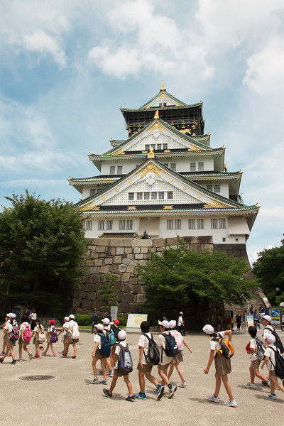 Osaka Castle.  Like Hiroshima's, it's a modern reconstruction since the original burnt down in a fire (of course).