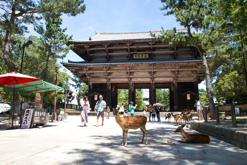 The first gate to Todaiji temple