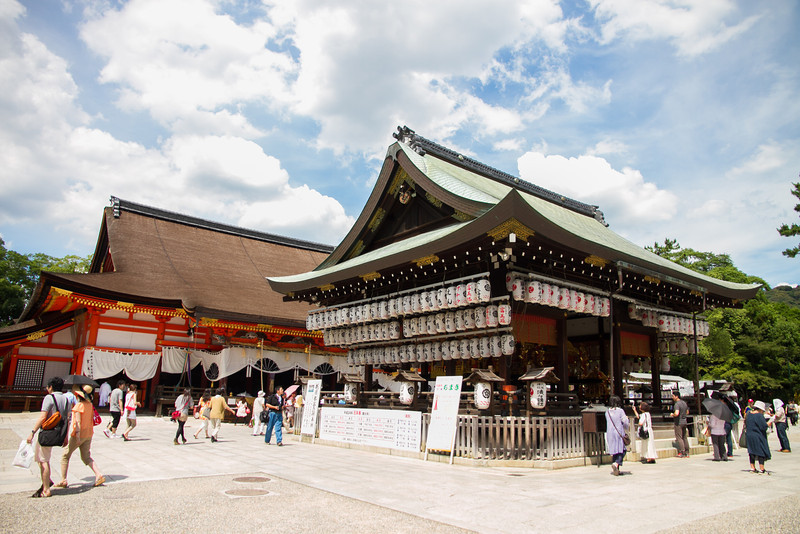 Yasaka Shrine near Gion, focal point of the Gion Matsuri festival