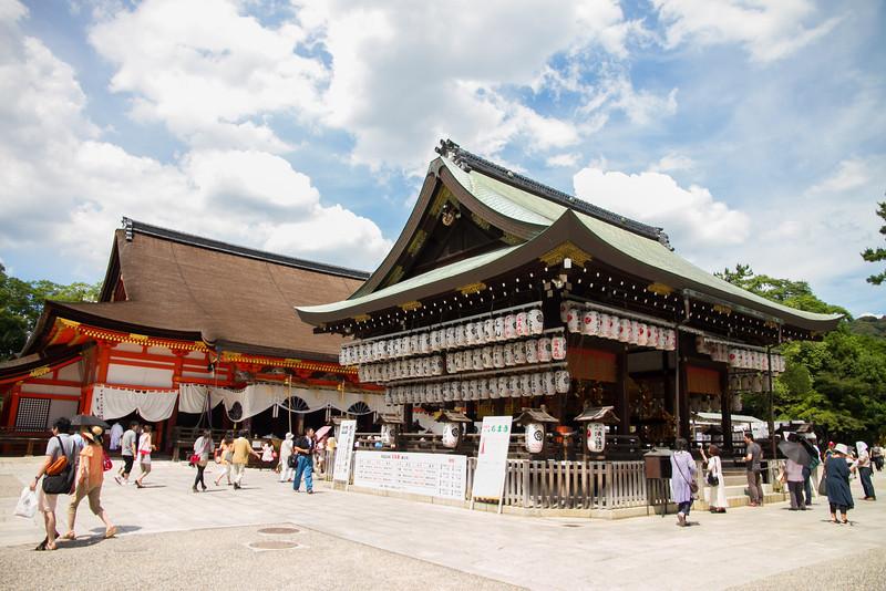 Yasaka Shrine near Gion, focal point of the Gion Matsuri festival