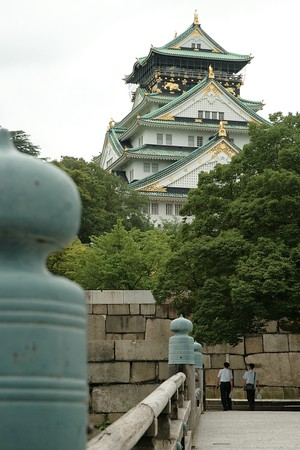 Osaka castle from the moat