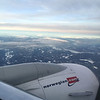 Over Norway, December 3, 2015. Snow down below but none in Oslo.