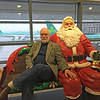 Me and a friend in Dublin Airport, December 3, 2015. Ignore my hand; I'm not groping Santa!