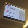 Annunciator. Norwegian State Railways train from the airport to the Central Station. November 30, 2016.