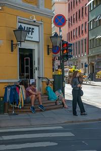 Jernbanetorget crossroad, Oslo, Norway.