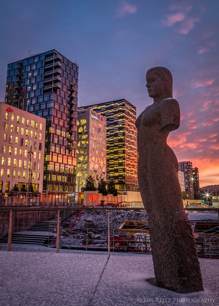 Sculpture in downtown Oslo, Norway.