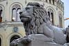 Norway Parliament lion sculpture