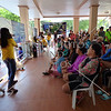 Orientation of visitors before swimming with the whale shark at Oslob, Cebu, Philippines.
