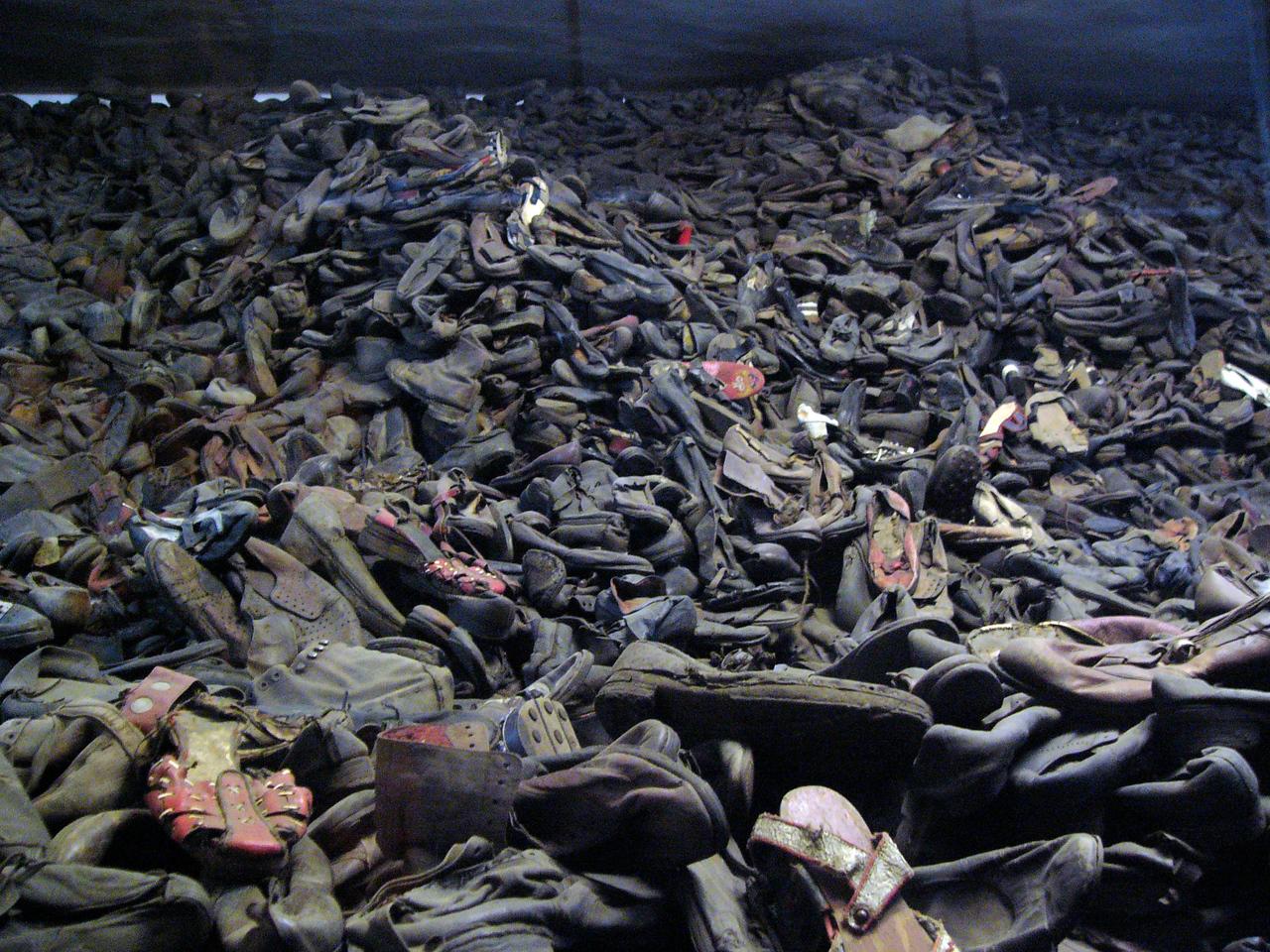 Shoes taken from murdered prisoners at Auschwitz