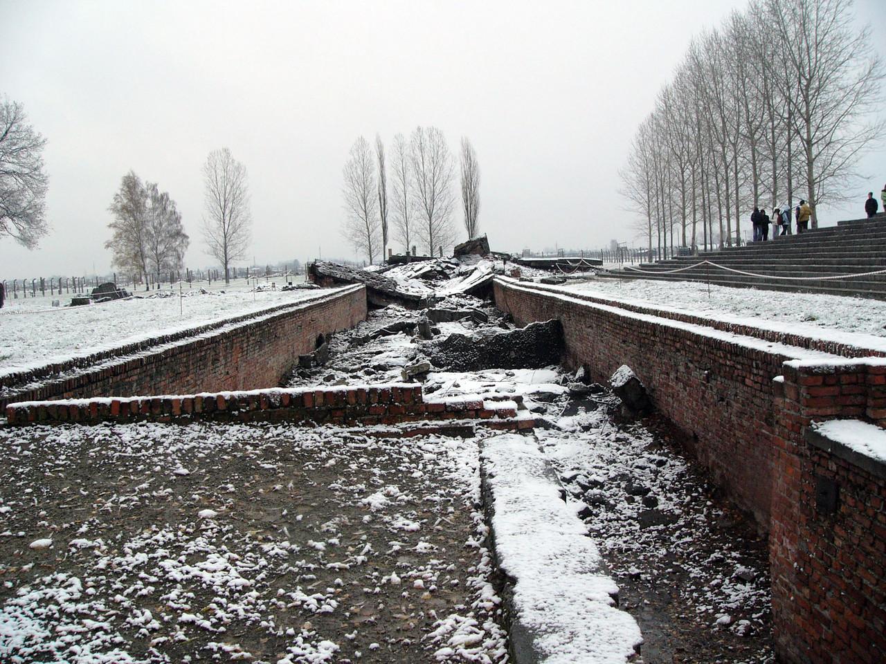 Crematorium at Auschwitz 2, destroyed by Nazis before liberations