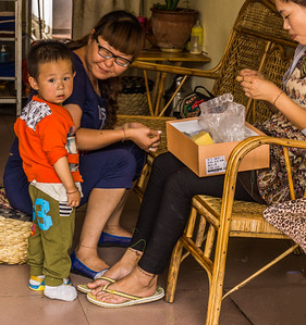 Weishan village shopkeeper family