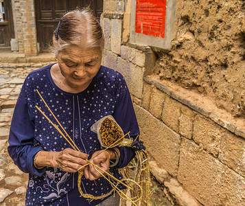 Craftswoman at work