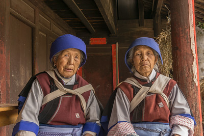 Naxi women in traditional dress