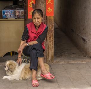 Weishan village shopkeeper