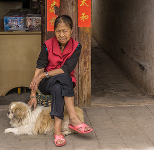 Weishan village shopkeeper