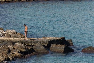 Lone swimmer at Otranto