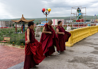 Young monks from the secondary school at Sain Nomun Monastery