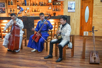 Traditional music concert on our final night at the lake